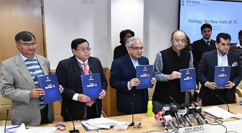 NITI Aayog releases Strategy for New India @ 75