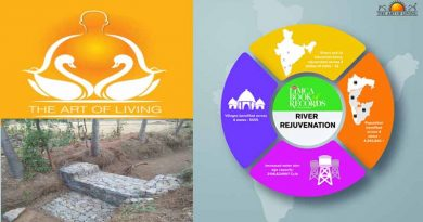 The Art of Living included in the Limca Book of Records