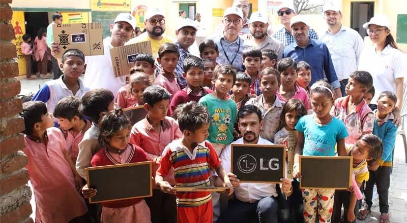 LG India turns empty box into tools for education on Global