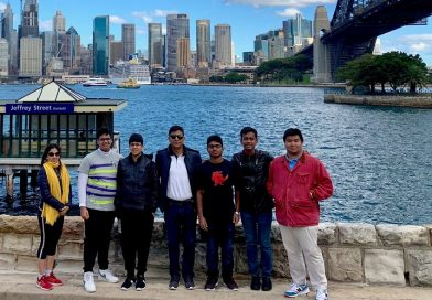 Indian students visit Sydney for prestigious Australian video competition