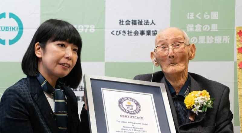 112-year-old Japanese named world's oldest living man