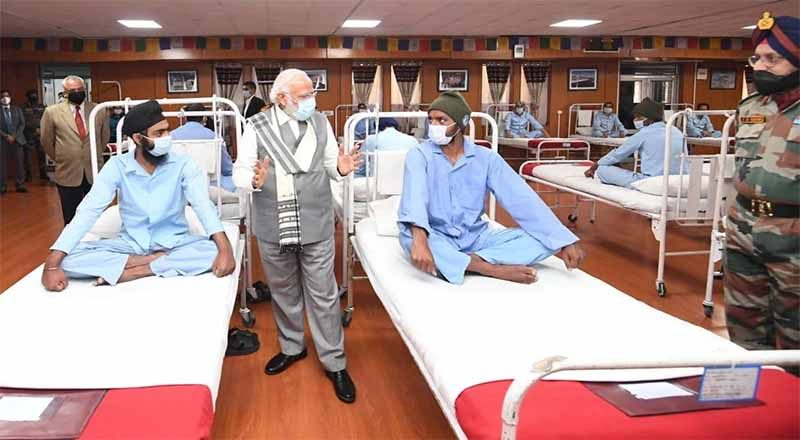 PM Modi visits jawans injured in face-off in Galwan Valley Clash